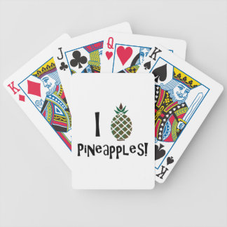 I Love Pineapples Playing Cards