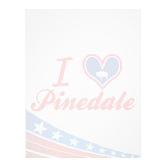I Love Pinedale, Wyoming Customized Letterhead