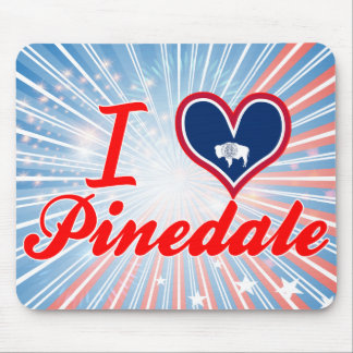 I Love Pinedale, Wyoming Mouse Pad