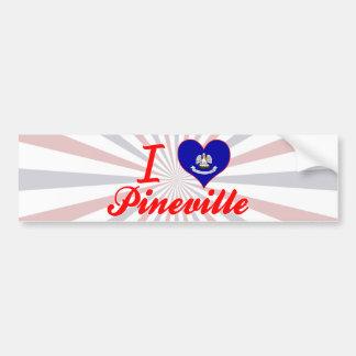 I Love Pineville, Louisiana Bumper Sticker