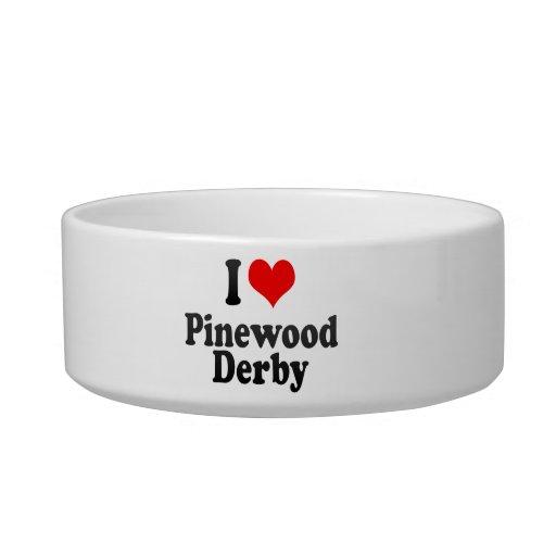 I love Pinewood Derby Cat Food Bowl