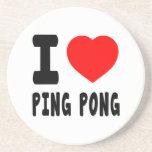 I Love Ping Pong Beverage Coaster
