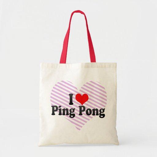 I Love Ping Pong Budget Tote Bag