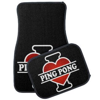 I Love Ping Pong Car Mat