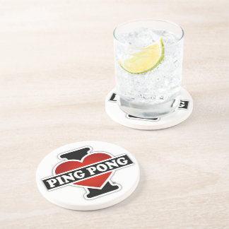I Love Ping Pong Coaster
