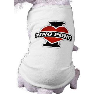 I Love Ping Pong Pet Tee Shirt