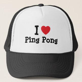 I love Ping Pong heart custom personalized Trucker Hat