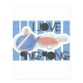I Love Ping Pong Ping Pong Dude! Postcard
