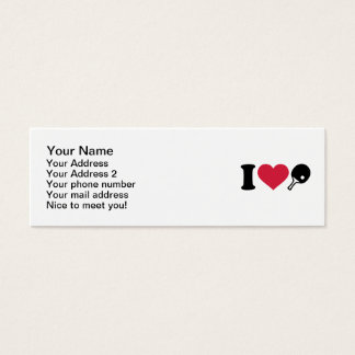 I love Ping Pong table tennis Mini Business Card