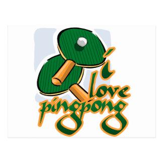 I Love Ping Pong We Love Ping Pong Postcard