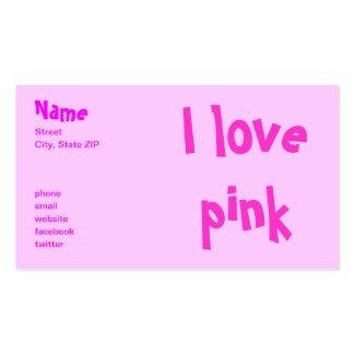 I love pink profilecard
