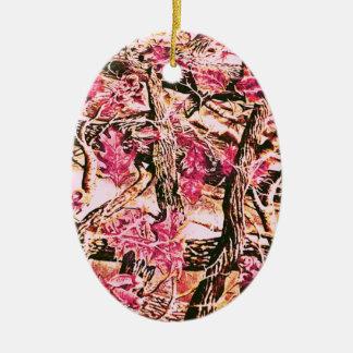 I Love Pink Camo Christmas Tree Ornament