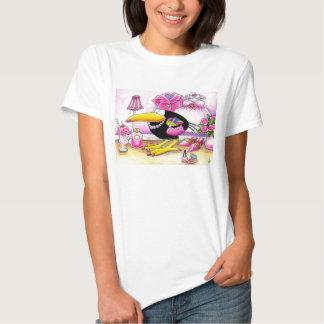 I love PINK crow tee shirt
