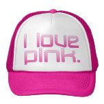 I Love Pink Girlfriend's Birthday Valentine's Day Trucker Hat