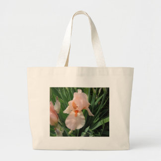 I Love Pink Irises Tote Bag