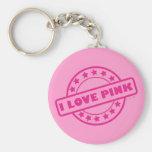 I Love Pink Key Chains