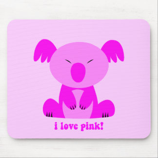 I love pink Koala Bear Mouse Pad