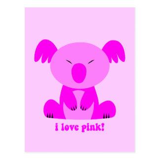I love pink Koala Bear Postcard