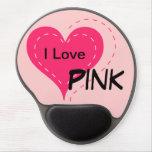 I Love Pink Mousepad Gel Mouse Mats