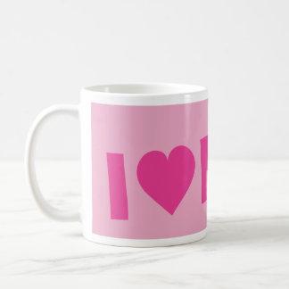I love pink classic white coffee mug