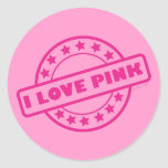 I Love Pink Stickers