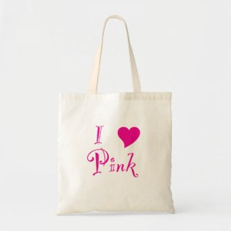 I Love Pink! Tote Bag