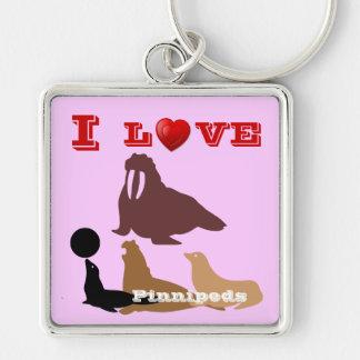 I Love Pinnipeds Premium Keychain