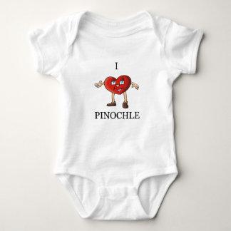 i  love pinochle baby bodysuit