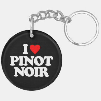 I LOVE PINOT NOIR Double-Sided ROUND ACRYLIC KEYCHAIN
