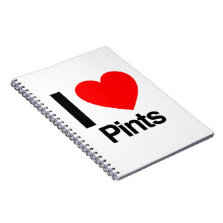 i love pints spiral note books