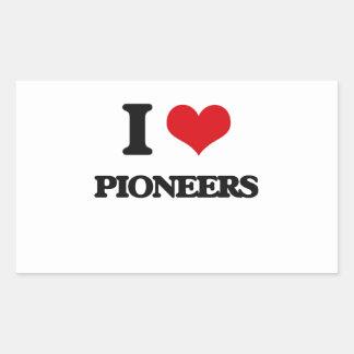 I Love Pioneers Rectangular Sticker