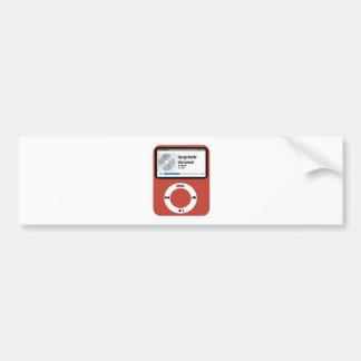 I love Pipe organ Recorder. Bumper Stickers