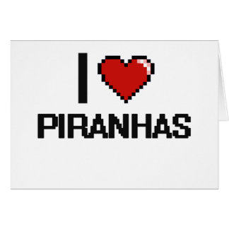 I love Piranhas Digital Design Stationery Note Card