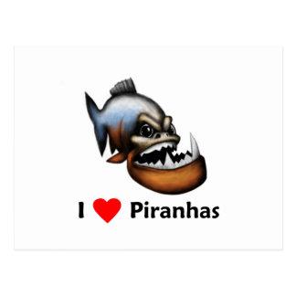 I love Piranhas Postcard