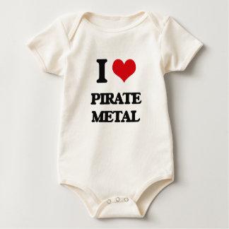 I Love PIRATE METAL Baby Bodysuit