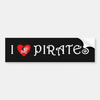 I Love Pirates (4) Car Bumper Sticker