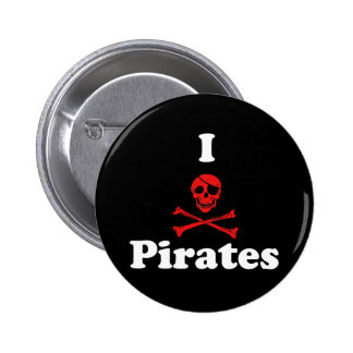 I Love Pirates Button