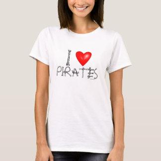 I Love Pirates Humor Funny T-Shirts
