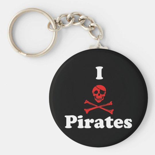 I Love Pirates Keychain
