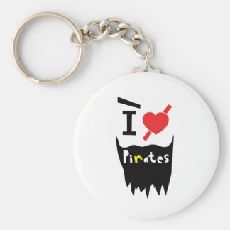 I love Pirates Keychain