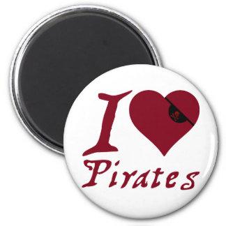 I Love Pirates Magnet