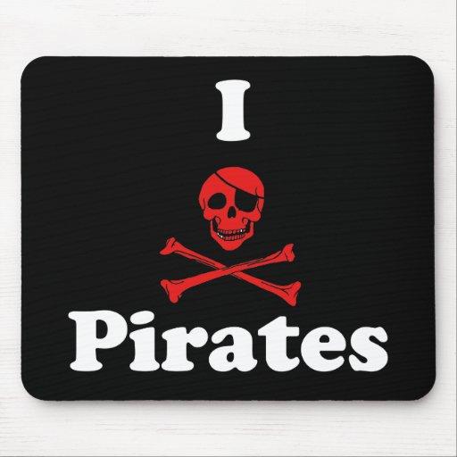 I Love Pirates Mouse Pad