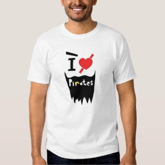 I love Pirates Tee Shirt