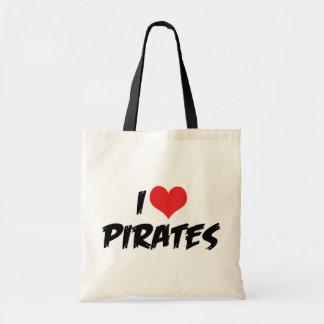 I Love Pirates Tote Bag