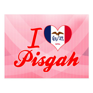 I Love Pisgah, Iowa Postcard