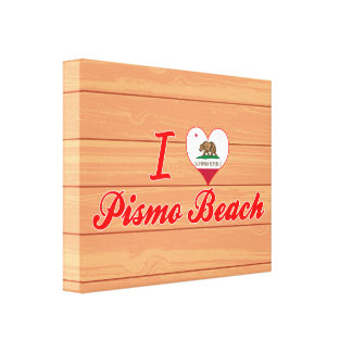 I Love Pismo Beach, California Canvas Prints