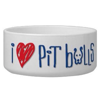 I Love Pit Bulls Bowl