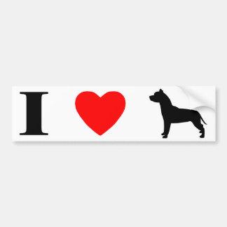 I Love Pit Bulls Bumper Sticker