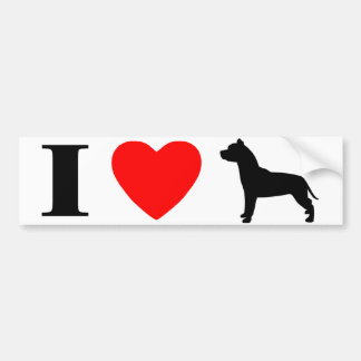 I Love Pit Bulls Bumper Sticker Car Bumper Sticker