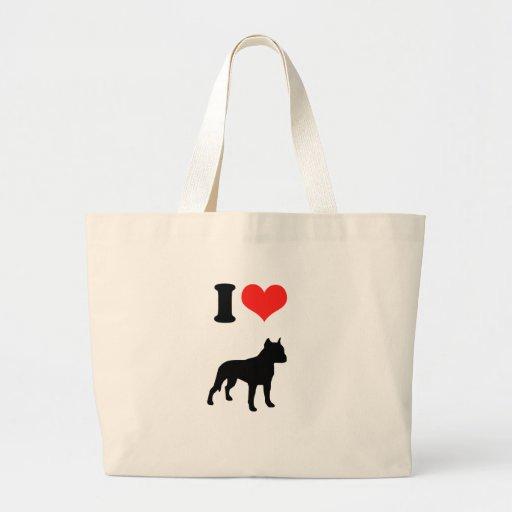 I Love Pit Bulls Canvas Bag
